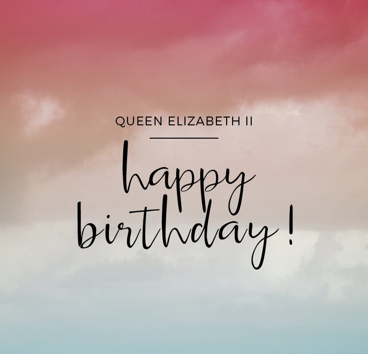 All the Queen's colours: Happy Birthday Elizabeth II