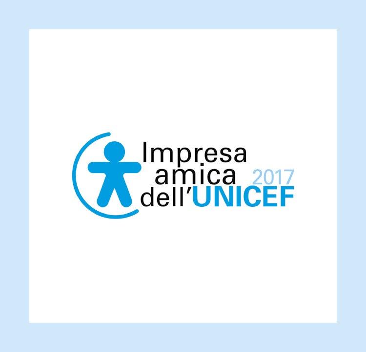"""NOMINATION è """"IMPRESA AMICA DELL'UNICEF 2017"""""""