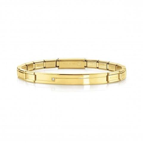 Trendsetter_Stainless_Steel_gold_bracelet_with_Swarovski_Bracelet_in_steel_with_gold_PVD_finish