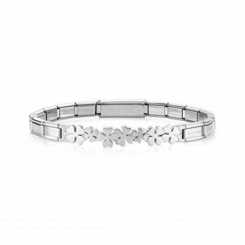 Trendsetter_Bracelet_with_Four-Leaf_Clovers_in_Stainless_Steel_Bracelet_with_Four-Leaf_Clover_symbol