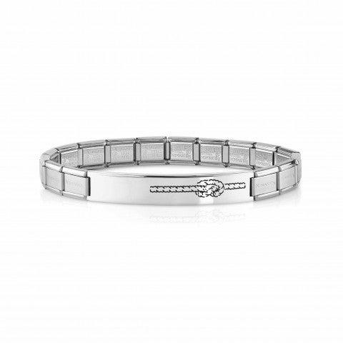 Trendsetter_Bracelet_with_Knot_Bracelet_with_Classic_size_Links