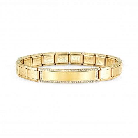 Yellow_Trendsetter_bracelet_with_plate_Coloured_bracelet,_Engraving_optional