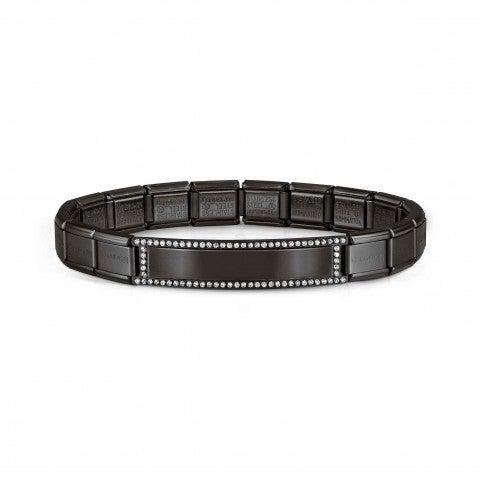 Black_Trendsetter_bracelet,_Engraving_plate_Bracelet,_coloured_steel_with_Engraving_Plate