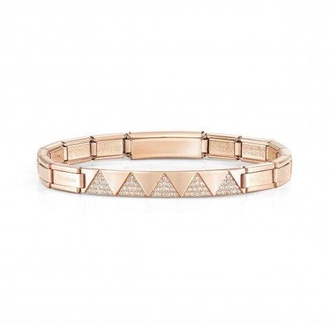 Steel_Rose_Trendsetter_bracelet,_Pyramids_Bracelet_for_Her,_stainless_steel_and_CZ