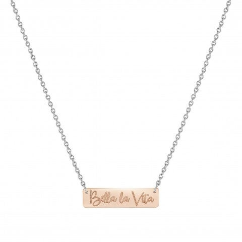 Special_Edition_necklace_Bella_La_Vita_plaque_Stainless_steel_and_9K_Rosegold_necklace_BELLA_LA_VITA