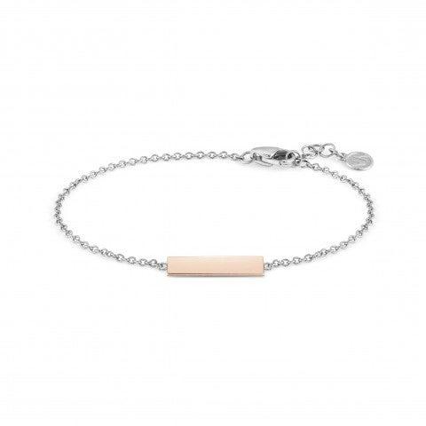 BELLA_LA_VITA_bracelet_Engraving_plaque_Stainless_steel,_9K_Rosegold_bracelet:_Engraving_plaque
