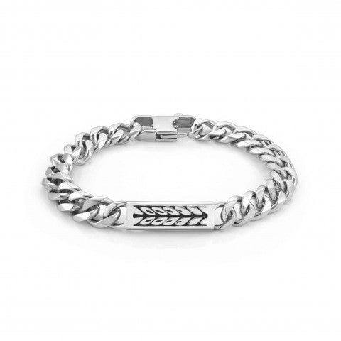 Instinct_Marina_Bracelet_with_Braid_symbol_Bracelet_in_stainless_steel_with_plate