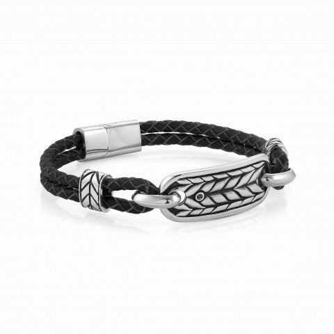 Instinct_Marina_Leather_Bracelet_with_Braid_symbol_Vintage-effect_bracelet