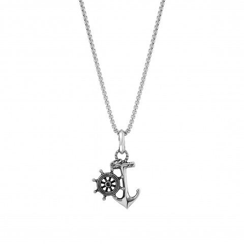 Instinct_Marina_Necklace_with_Anchor_Stainless_steel_necklace_with_pendants