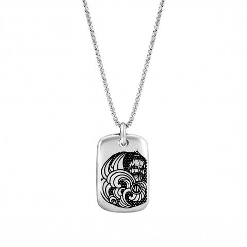Instinct_Marina_Necklace,_Sailing_Ship_and_Waves_Stainless_steel_pendant_with_details