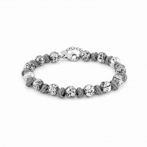 Instinct_bracelet_,_steel_with_lava_stone_Bracelet_in_stainless_steel_with_lava_stone
