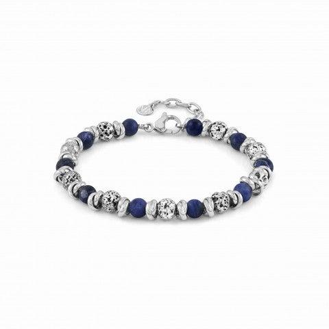 Instinct_bracelet_with_lava_stone_Bracelet_in_steel_with_stones