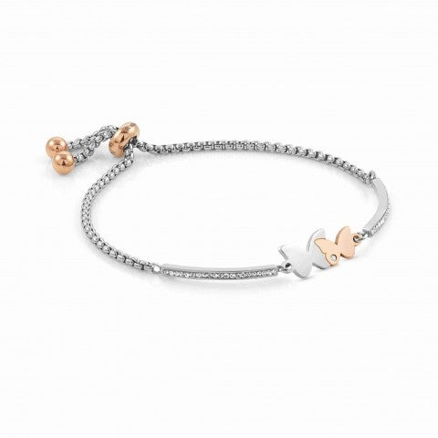Milleluci_bracelet,_2_Butterflies_Jewellery_with_symbol_in_stainless_steel