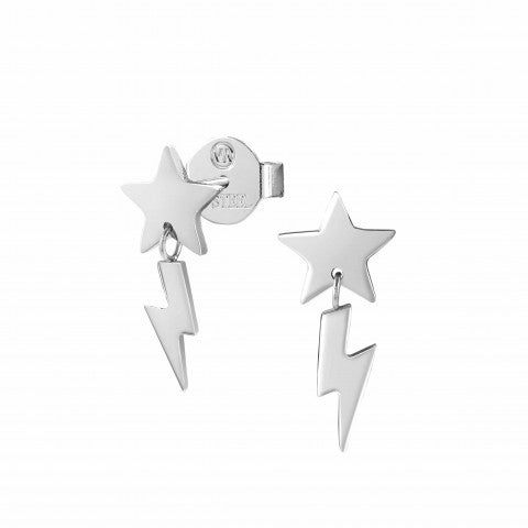 Stardust_earrings_with_Star_and_Lightening_Bolt_Earrings_with_Star_and_pendants
