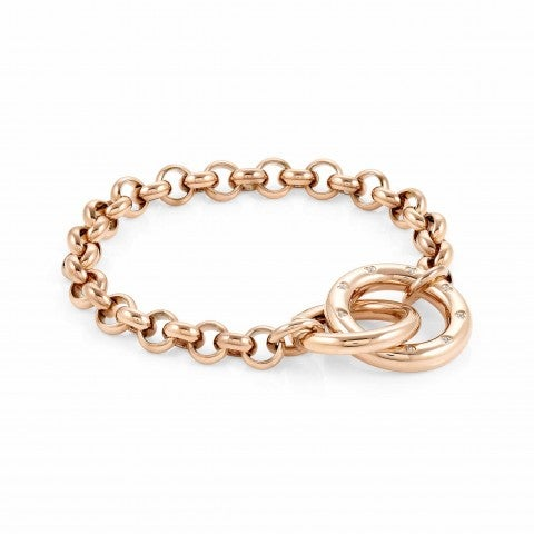 Coloured_Infinito_bracelet_with_Cubic_Zirconia_Bracelet_in_stainless_steel_with_PVD_finish