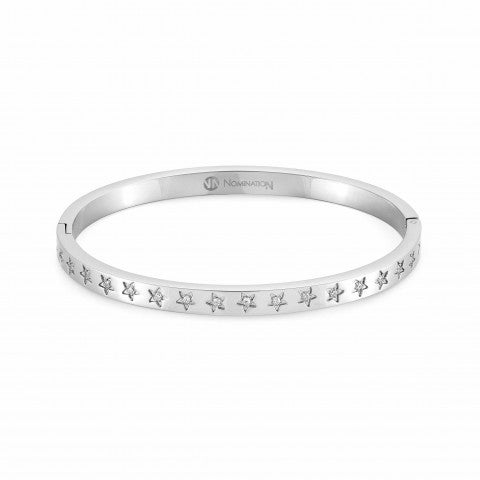 Infinito_bangle_bracelet_with_Cubic_Zirconia_Bangle_bracelet_in_stainless_steel