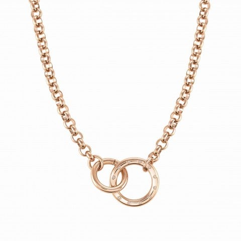 Coloured_Infinito_necklace_with_Cubic_Zirconia_Necklace_in_stainless_steel_with_PVD_finish