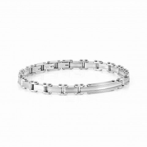 STRONG_Stainless_steel_bracelet_with_plate_Stainless_steel_bracelet_with_gray_details