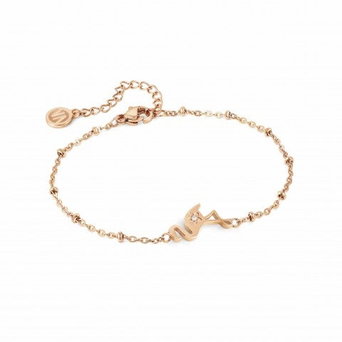 Magic_bracelet,_Flamingo_Jewellery_in_steel,_PVD_Rose_and_symbol
