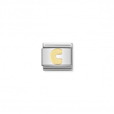 Composable_Classic_Link_Letter_C_in_18K_Gold_Stainless_steel_Letter_C_Link_in_18K_gold