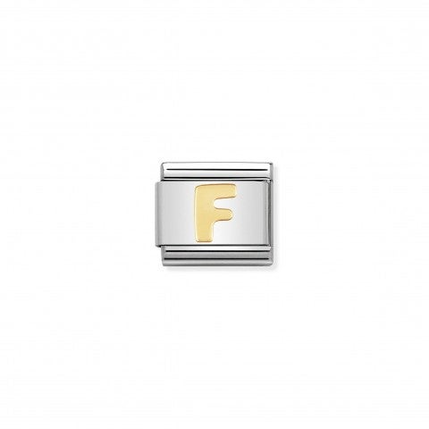 Composable_Classic_Link_Letter_F_in_18K_Gold_Stainless_steel_Letter_F_Link_in_18K_gold