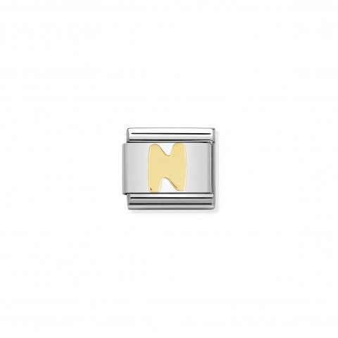 Composable_Classic_Link_Letter_N_in_18K_Gold_Alphabet_Letter_N_in_stainless_steel