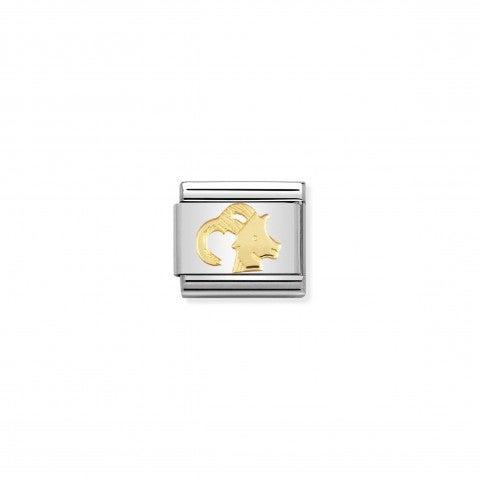 Link_Composable_Classic_in_Oro_Capricorno_Link_in_Acciaio_con_Simboli_Zodiaco_in_Oro_750