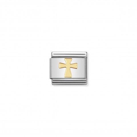 Link_Composable_Classic_in_Oro_Croce_Link_in_Acciaio_e_Oro_Simboli_Religiosi