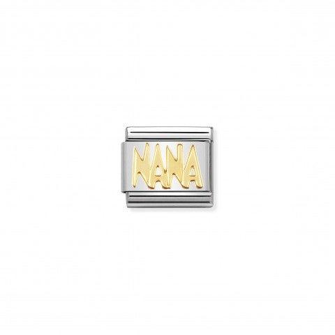 Link_Composable_Classic_in_Oro_NANA_Link_in_Acciaio_e_Oro_Messaggi_e_Scritte_Famiglia