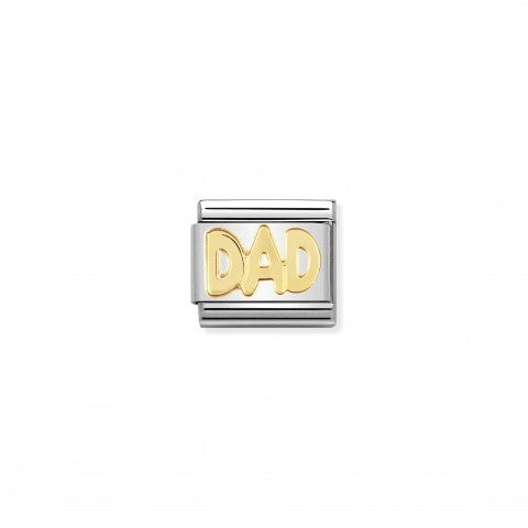Composable_Classic_Link_DAD_in_18K_Gold_DAD_Writing_Link_in_18K_gold_and_stainless_steel