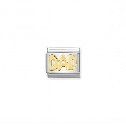 Link_Composable_Classic_in_Oro_DAD_Link_in_Acciaio_e_Oro_750_Messaggi_e_Scritte_Famiglia