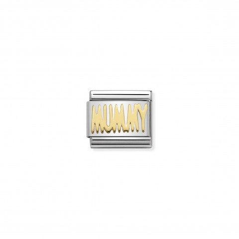 Link_Composable_Classic_in_Oro_MUMMY_Link_in_Acciaio_e_Oro_750_con_Messaggi_Famiglia