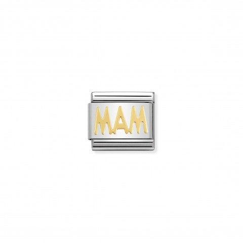 Link_Composable_Classic_in_Oro_MAM_Link_in_Acciaio_e_Oro_con_Messaggi_e_Scritte_Famiglia