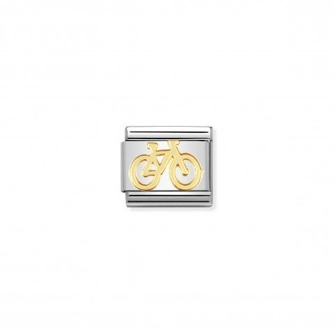 Composable_Classic_Link_Bike_in_18K_Gold_Stainless_steel_Link_with_Bike_symbol_in_18K_gold