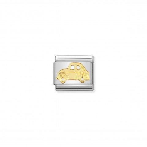 Link_Composable_Classic_in_Oro_Macchina_Link_in_Acciaio_con_Simboli_Mezzi_di_Trasporto_in_Oro