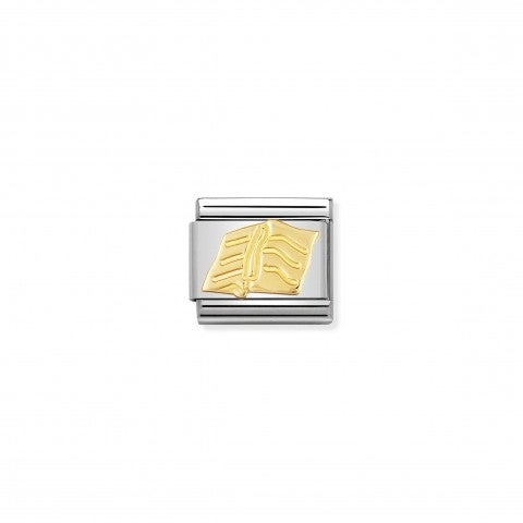 Composable_Classic_Link_Book_in_18K_Gold_18k_gold_Link_with_Book_symbol_in_stainless_steel