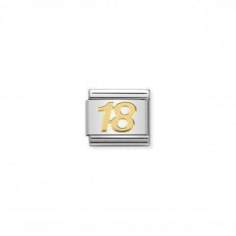 Link_Composable_Classic_in_Oro_Numero_18_Link_in_Acciaio_e_Oro_750_Compleanni_importanti