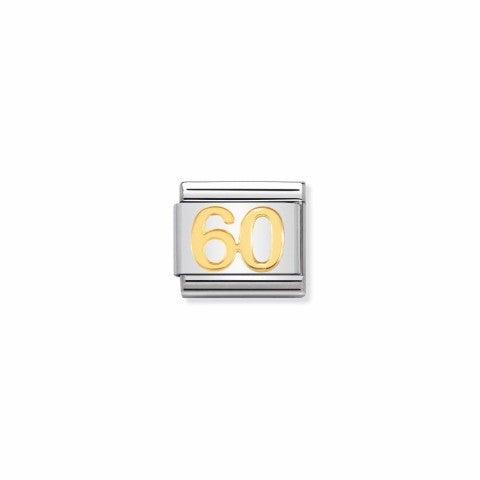 Link_Composable_Classic_numero_60_Link_in_Acciaio_e_simbolo_60_in_oro_750