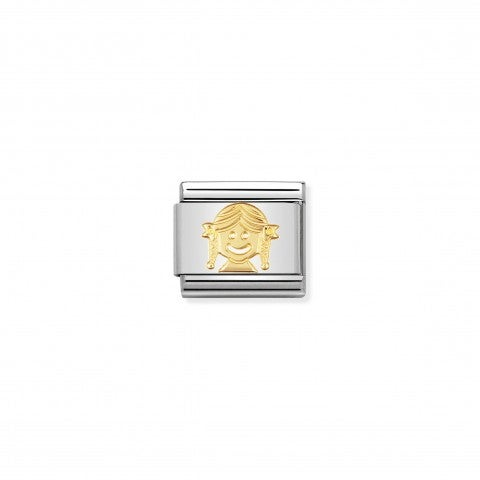 Composable_Classic_Link_Girl_Link_in_18K_gold_with_a_Little_Girl_Face