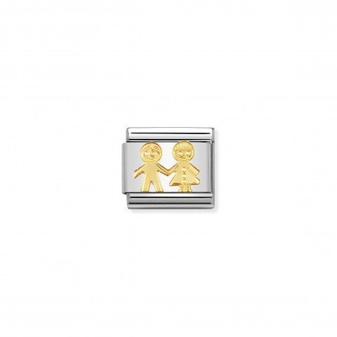 Composable_Classic_Link_Children_Link_in_18K_gold_with_Boy_and_Girl