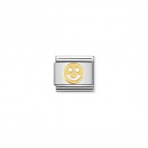 Link_Composable_Classic_Smile_Link_in_Acciaio_con_Emoticon_in_Oro_750