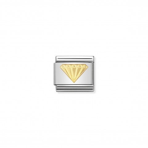 Link_Composable_Classic_Diamante_Link_con_simbolo_Portafortuna_in_Acciaio_e_Oro_750
