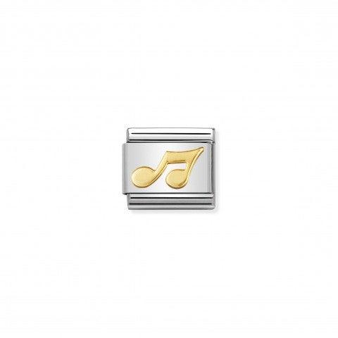 Link_Composable_Classic_Nota_Link_in_Acciaio_con_simbolo_Musica_in_Oro_750