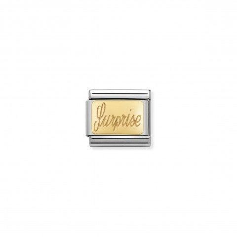 Link_Composable_Classic_Surprise_Link_per_bracciale_Composable_in_oro_con_scritta_Sorpresa