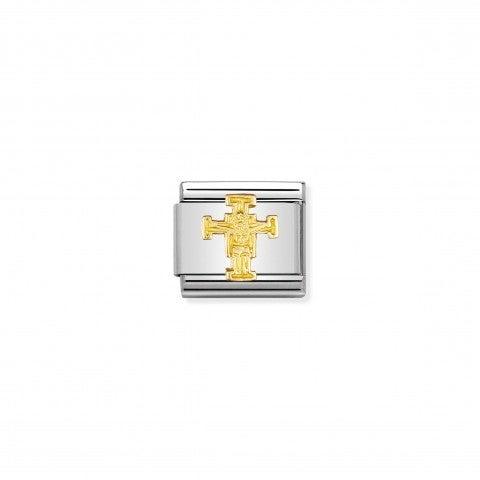 Link_Composable_Classic_Cristo_di_Cimabue_Link_in_Oro_750_con_simbolo_di_un_opera_d'Arte_italiana