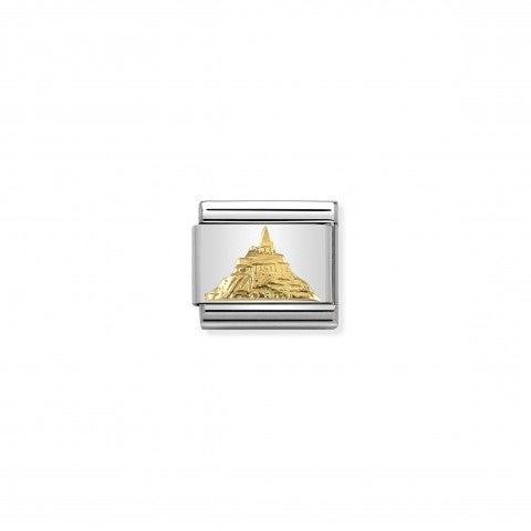 Link_Composable_Classic_Mont_Saint_Michel_Link_in_Oro_750_con_Monumento_simbolo_della_Francia