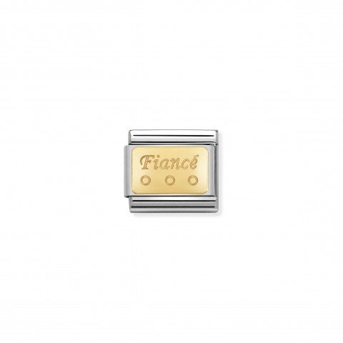 Composable_Classic_Fiancé_Link_in_Gold_Link_in_stainless_steel_with_writing_in_18K_gold