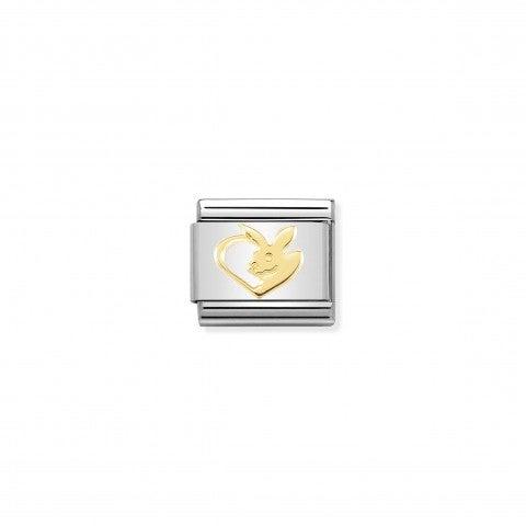Link_Composable_Classic_Coniglio_Cuore_Link_in_oro_750_con_cuore_e_simbolo_animale