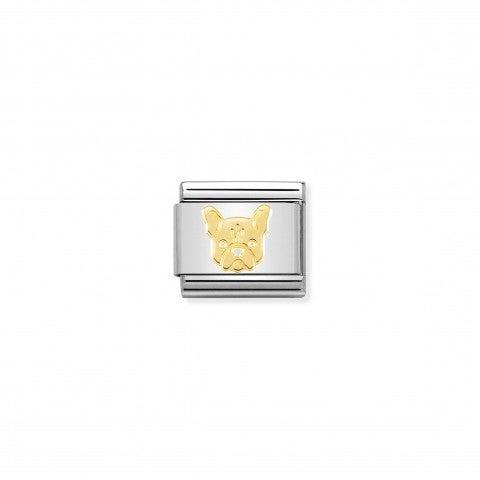 Link_Composable_Classic_Bulldog_Francese_Link_in_oro_750_con_simbolo_animale_del_cane