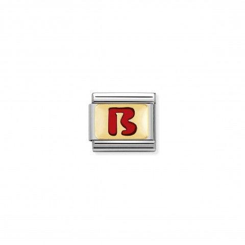 Link_Composable_Classic_Lettera_B_Rosso_Link_con_iniziale_in_oro_750_con_smalto